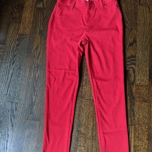 Faded glory jeggings RED xs (0-2)